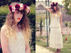 Alexe Bec - Lily J London Dress, Pieces Shoes, Doll Poupée Flower Crown - Burgundy crown