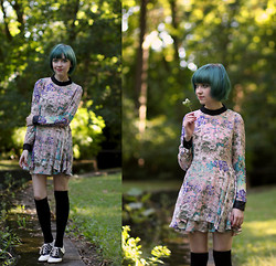 The Clothes Horse R - Sheinside Dress, Asos Knee Highs, Modcloth Saddle Shoes - Deep Meaning Often Lies In Childish Plays