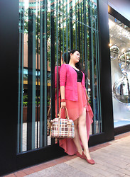 Jessie Yin - Earrings, Jacket, Dress, Bag, Shoes - Lost in Hong Kong
