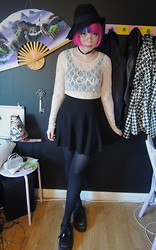 Emmy - Lindex Hat, H&M Skirt - 20's inspired, kind of