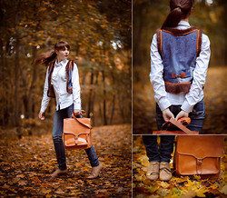 Helena Ivanova - Foxy Originals Long Necklace, Eleni Bag - Follow me in the Fall