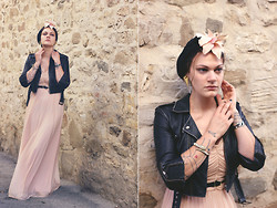 Beatrice Costanzo - Topshop Leather Jacket, H&M Maxi Dress, H&M Turban & Flower, Topshop Earrings, Primark Gold Snake, H&M Belt - Is it really so, really so strange? I say NO, you say YES