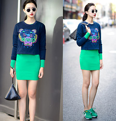 Ladykelly Wang - Mixmoss Shirt, Mixmoss Dress - Tiger