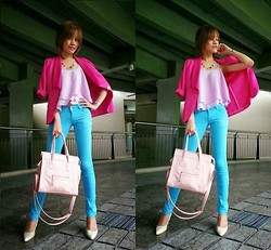 R.A. Basilan - The Landmark Blazer, Desideratum Razor Back Top, Thrifted Pants, Céline Celine Inspired Bag, Céline Shoes - You're Sweet Sweet Smile