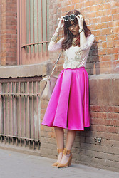Sonia Eryka - Bebaroque Embellished Top, Riots Barbie Flare Skirt, Jeffrey Campbell Park Ave Shoes - New York, New York.