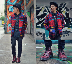 JAN Javier - Black Market Coat, Dr. Martens Boots, Aldo Hat, H&M Pants - I Am Married To The Streets