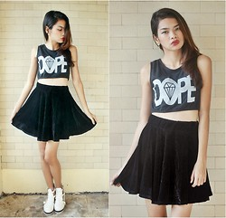 Cherrish Feliminiano - Gifi Clothing Dope Top, Romwe Cross Earrings, Cutout Boots - I don't do Dope, I am Dope.