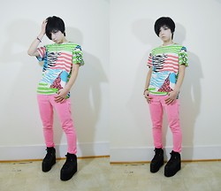 Lovely Blasphemy - Urban Outfitters Shirt, Yru Qozmo   Black, Kill City Jeans - Pink