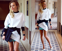 ANNA S. - Deezee Shoes, Zusia Górska Clutch, Dadsstuds Outfit - ALL IN WHITE | What Anna Wears