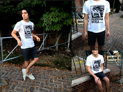 Marco Jimenez - H&M Graphic Tee, Penguin Board Shorts - The pumped up kicks