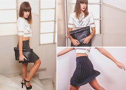 Emi P. - Missguided Crop Top, Zara Skirt, Clic Jewels Clutch - Playing with shapes