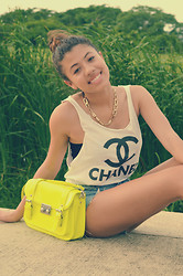 Silvia Fernandez - American Apparel High Waisted Shorts, Chanel Shirt - Breeze