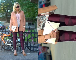 Liat Neuman - Zara Jacket, Bcbg Top, Urban Outfitters Leggings - Big city life