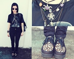 Rokaia MAB - Bomber Darth Vader T Shirt, Schooner Jeans, Cravo E Canela Creepers - You're burned by my lighter!!