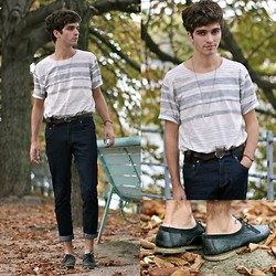 "Matthias C. - Selected Homme T Shirt, Jack And Jones Belt, Bally Shoes - ""Aulne"""