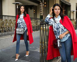 Annabelle Fleur - Marni Coat, Alexander Wang Bag, J Brand Jeans - ROCKING RED