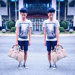 Jeront Villagomez - Zara T Shirt, Hugo Boss Free Bag, Converse Black Chucks, Forever 21 Aztec Cap - Stylewithjeront is back!