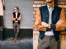 Stay Classic - Oak Shirt, Topman Pants, Banana Republic Hyde Oxford, Asos Grandad Watch, Ray Ban Clubmaster - October 5, 2013