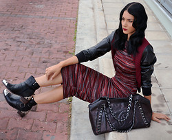 Konstantina Tzagaraki - Dress, Bomber, Chanel Bag, Booties - Anyone who has never made a mistake has never tried anything