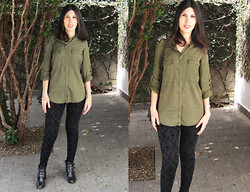 Tatiana Roscani - Zara Shirt, Zara Skull Legging - Some girls wander by mistake