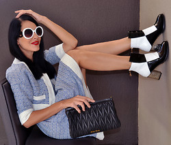 Konstantina Tzagaraki - Twin Set, Booties, Miu Purse, Sunglasses - I'll let you be in my dreams if I can be in yours..