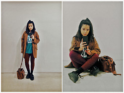 Reg Panlilio - Vintage Steinlager Shirt, Cotton On Oversized Coat - It's Like You're My Mirror