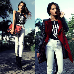 Alana Ruas - Sheinside Coat, Sheinsde Pants, Viva T Shirt, Zealotries Earring, Santa Lolla Bag - F. OFF