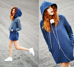 Ebba Zingmark - Romwe Dress With Big Hoddie, Romwe Reversible Jacket, Jd Sports Sneakers, Urbanears - Urban Playground - Ebba Z for Romwe