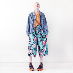 JENNY MUSTARD . - Mind The Mustard Denim Jacket, Mind The Mustard Floral Print Culottes - Don't have a boring autumn.