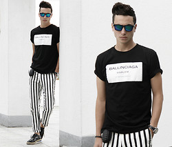 Vladan Gavric - Choies Shirt And Pants, Freyes Sunglasses, Lonely Robot Wallet Bomb - THE BOMB