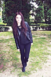 Alina C - H&M Leather Jacket, H&M Jumper -  Ready to rock the world!