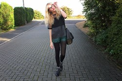 Charmaine Cowland - Topshop Leather Tee, Asos Leather Shorts, Alexander Wang Studded Bag, Topshop Spiked Boots - 081013