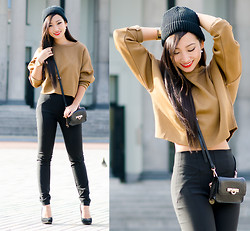 Minh Nguyen - Zara Sweater, Zara Pants, Dkny Purse - Earth Tones