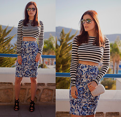 Viktoriya Sener - Zara Stripe Top, Koton Floral Skirt, Koton Clutch - IN THE RHYTHM OF THE SUN