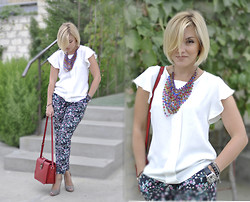 Nastacia Z - Nowistyle Silk Top, Vancl Shoulder Bag, Zara Heels - Light & Easy