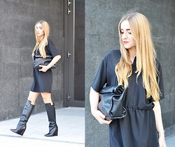 Kinga Jassowicz - Natalia SiebuŁa Dress, Zara Boots, Zara Lunch Box, Elixa Bracelet - NS ONCE AGAIN