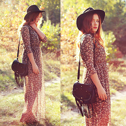 Valentine S. ☽ - Bershka Floral Dress, New Look Bag - Beautiful disaster ♡