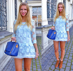 Ania Zarzycka - Oarry Dress, Udobuy Necklace, Chicnova Bag, Pull & Bear Pull&Bear Boots - A dream is a wish your heart makes