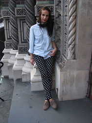 Anne M. - H&M Pants, H&M Shirt, Vero Moda Scarf, Dolce Vita Shoes - Chilly days
