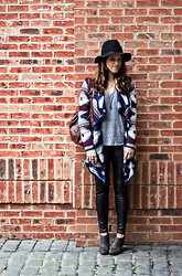 Christen L - Target Hat, Forever 21 Cardigan, Urban Outfitters Tank Top, Modcloth Leggings, Target Booties - Aztec + (faux) leather