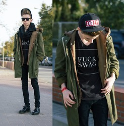 Paul Jeremy G. - Vintage Coat, Vintage Fur, Obey Hat, Topman Pants, Dr. Martens Shoes - Crawlin' back to you