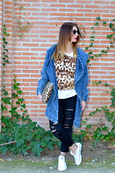 Alexandra G. - Ebay Jacket, Blanco Jeans, Converse - RIPPED JEANS