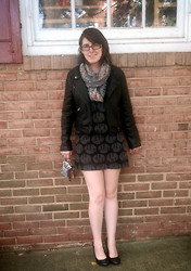 Marie L - Dress, Forever 21 Jacket, Tilly's Circle, Aerie Card Case, Apt 9 Pumps - Fall (: