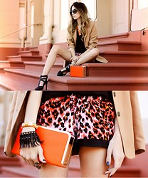 Flávia Desgranges van der Linden - Aremo Shorts, Aremo Clutch - Pop of colour
