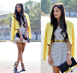 Alba . - Zerouv Sunglasses - Stripes dress + Giveaway