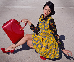 Konstantina Tzagaraki - Dress, Louis Vuitton Bag - Between the wish and the thing the world lies waiting..