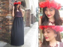 Danica Salazar - Diy Floral Crown, Bonita Y Elegante Necklace - Art in my blood