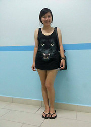 Cheng CT - Cotton On Singlet, Rm15, Cotton On Ragged Jeans, Rm15 - Roar! The black panther