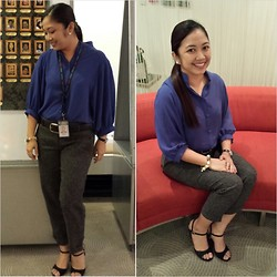Leign Gamit - Kamiseta Loose Blouse, Sandals, Forever 21 Cropped Pants - Missed lookbook
