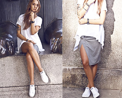 Jane K. - River Island Skirt, All Saints Top, Converse Sneakers -  Dave Dee, Dozy, Beaky, Mick & Tich – Hold Tight / JK